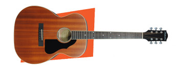 Silvertone 600MHNS Orchestra Body Acoustic Guitar, Natural Satin