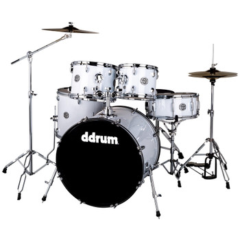 ddrum D2 522 WHT 5-Piece Complete Drum Kit, White Gloss