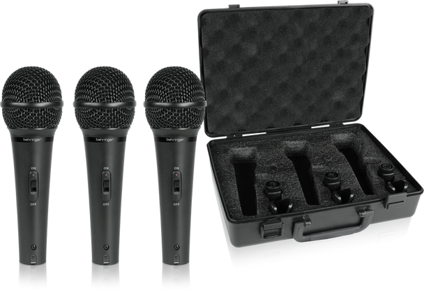 Behringer XM1800S Dynamic Microphone - 3-Pack