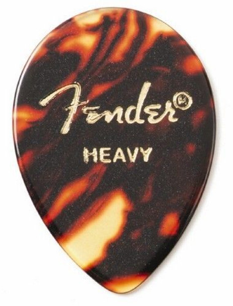 Fender 358 Classic Celluloid Guitar Picks 12-Pack - Heavy - Shell
