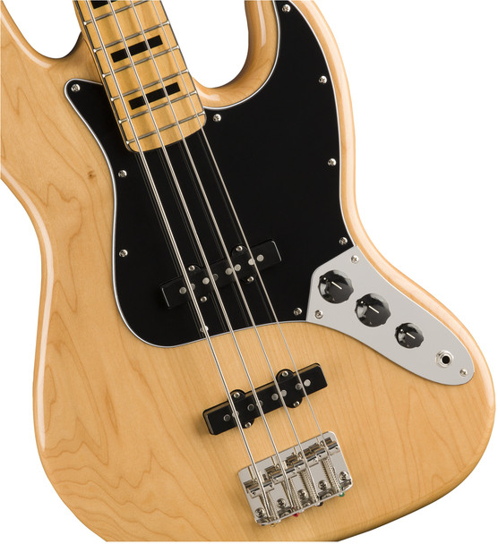 Fender 0374540521 Classic Vibe '70s Jazz Bass , Maple Fingerboard, Natural