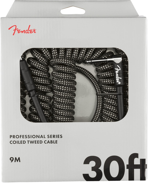 Fender 0990823048 Professional Coil Cable, 30', Gray Tweed
