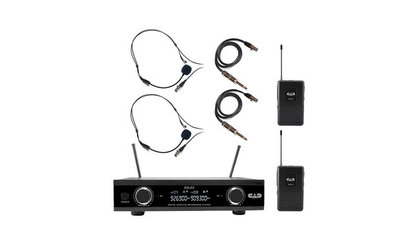 CAD GXLD2BBAH Digital Wireless Dual Bodypack Microphone System AH Frequency