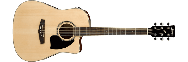 Ibanez PF15ECENT 6-String Performance Acoustic Guitar, Natural High Gloss
