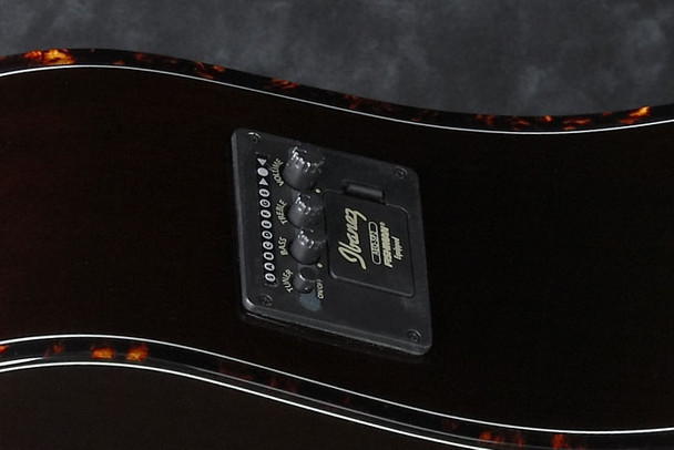 Ibanez PF28ECETRS 6-String Performance Acoustic-Electric Guitar, Transparent Red Sunburst High Gloss