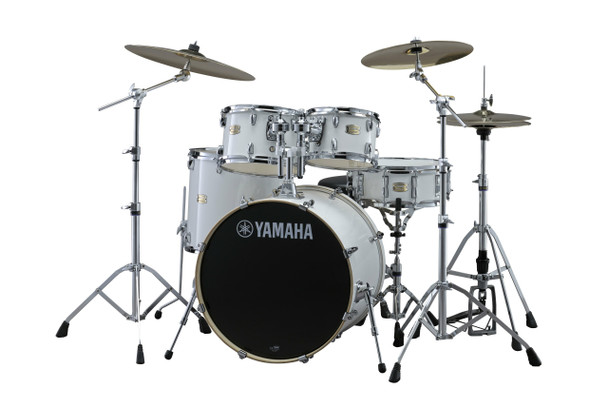 Yamaha SBP2F50PW Stage Custom 5-Piece Drum Shell Pack, Pure White