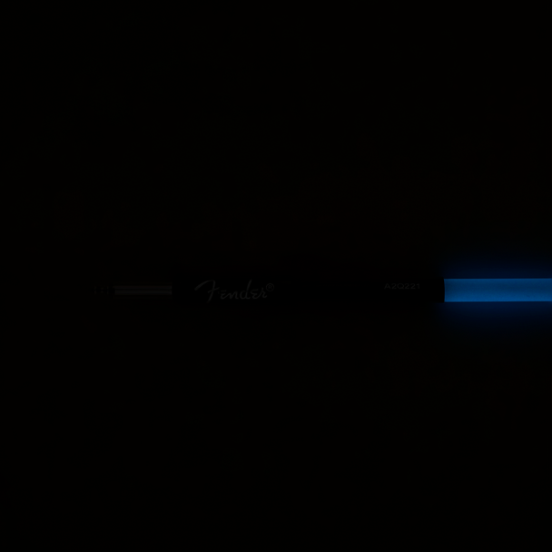 Fender 0990810108 Professional Glow in the Dark Cable, Blue, 10'