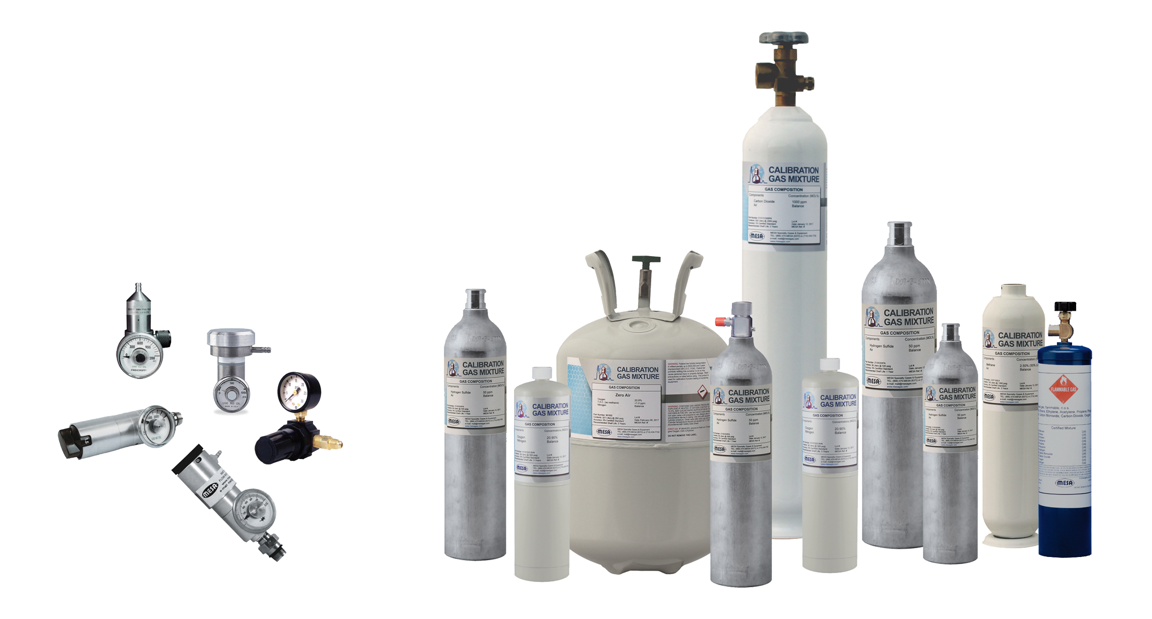 Disposable calibration gas cylinders