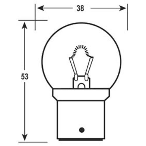 bus bulb 12v 12w b22d