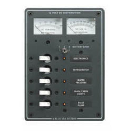 0eafe9cc580d0 Blue Sea Panel Dc Volt/Amp +5 Pos Ce - Boat Electricals