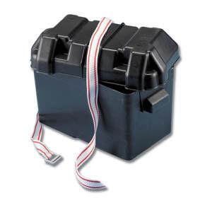 Fabulous Trem Medium Blk Battery Box C W Strap 185X355X263H Boat Electricals Wiring Cloud Usnesfoxcilixyz