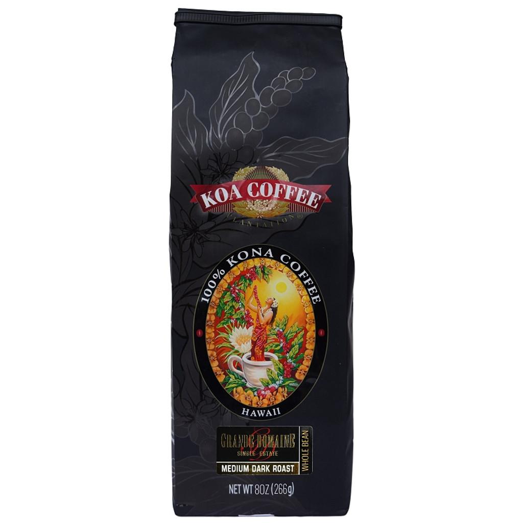 Grande Domaine Kona Coffee Beans 8oz