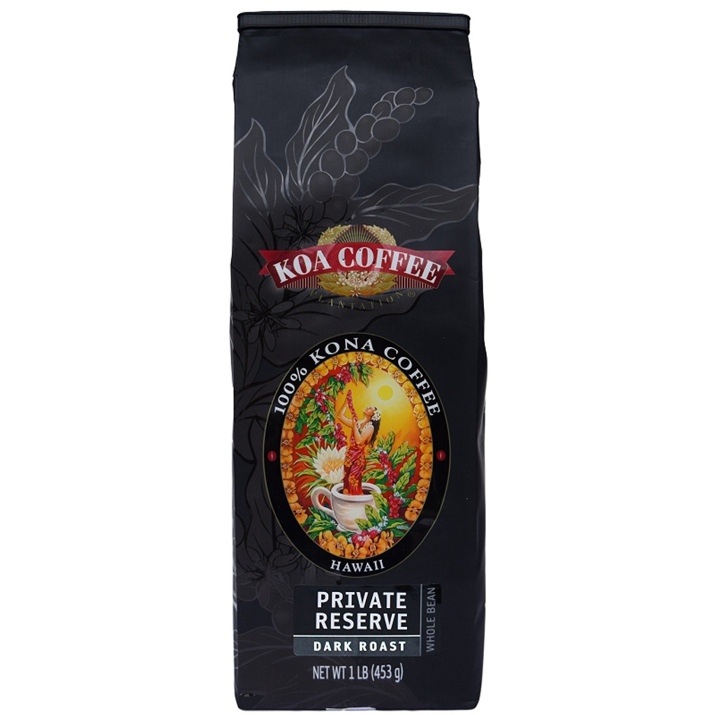 Private Reserve Kona Coffee Dark Roast Whole Bean Kona Coffee
