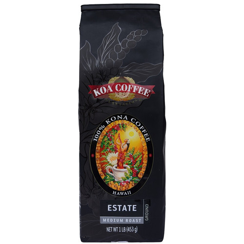 Kona Estate Medium Roast Ground Kona Coffee