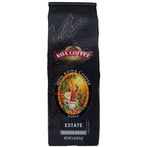 Estate Kona Coffee Medium Roast Whole Bean Kona Coffee