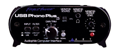ART USB Phono Plus Audiophile Phono Preamp / Audio Interface