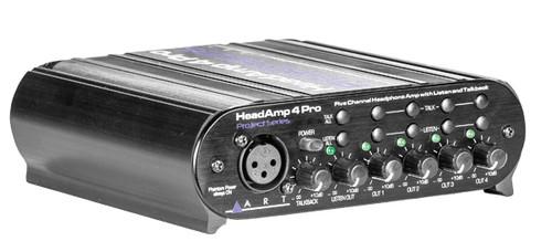 ART - HeadAMP 4 Pro Five Channel Headphone Amplifier with Talkback