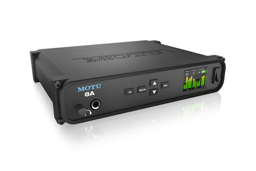 MOTU 8A - ThunderboltTM/USB3/AVB Ethernet audio interface with DSP and mixing - Open Box Special