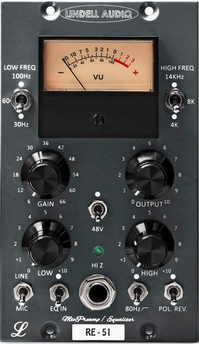 Lindell Audio RE-51 500 Series Microphone Preamp & EQ