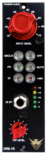 Phoenix Audio DRS-1R/500 500 Series Microphone Preamp