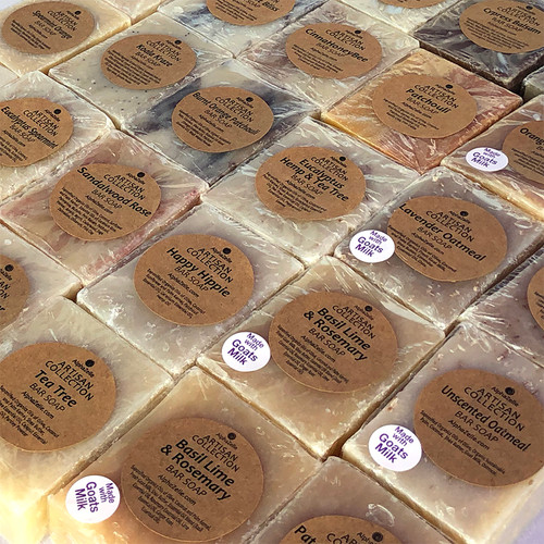 Handcrafted all natural bar soap, some with Goats Milk!