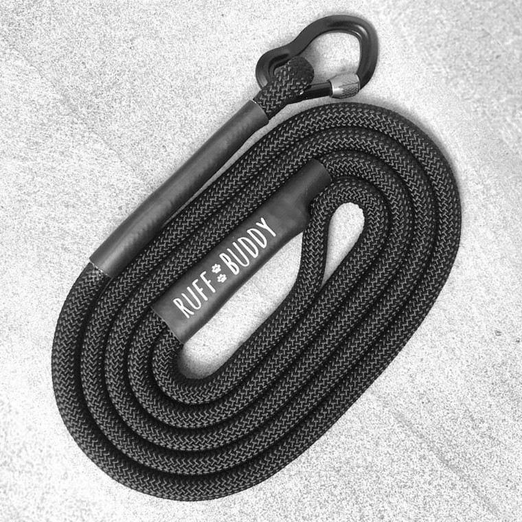 Ruff Buddy Climbing Rope Dog Leash Stealth 5ftS Full Rope