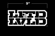 "9"" White LFTDxLVLD Logo Decal"
