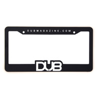 DUB Black Plastic License Plate Frame