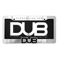 DUB Magazine Chrome License Plate Frame & Insert