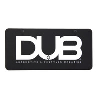 DUB Magazine Metal License Plate Insert