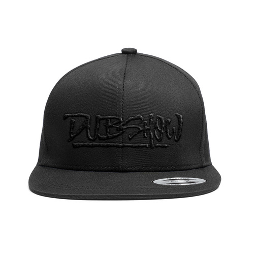 DUB Show Script Snapback Cap - Black