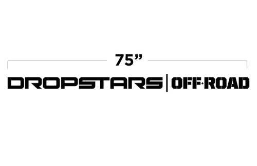 "75"" Dropstars Off Road Large Door Decal"