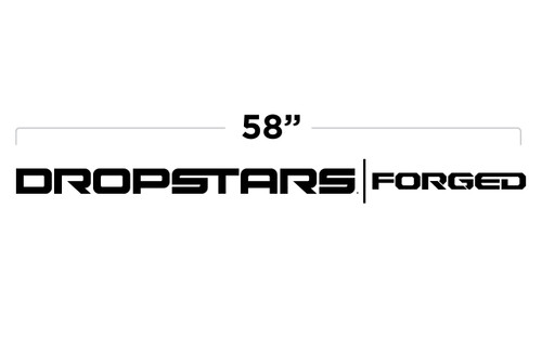"58"" Dropstars Forged Door Decal"
