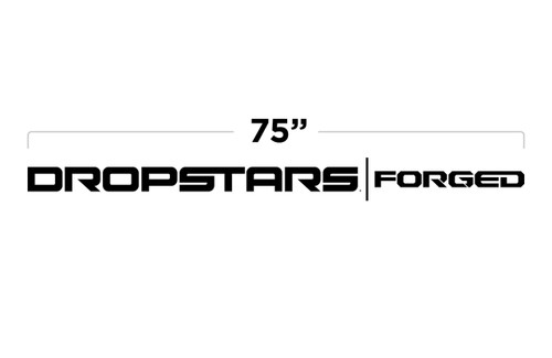 """75"""" Dropstars Forged Large Door Decal"""