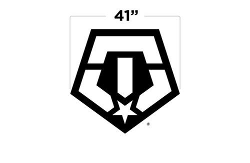 """41"""" TIS Logo Door Decal"""