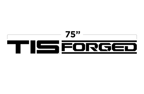 "75"" TIS Forged Large Door Decal"