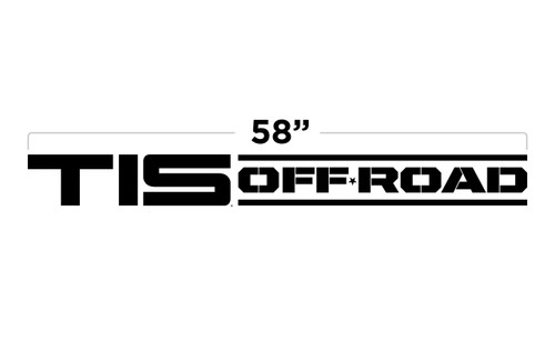 "58"" TIS Off Road Door Decal"
