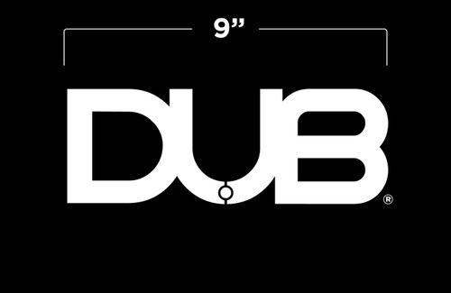 "5"" White DUB Logo Decal"