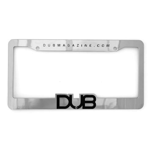 DUB Magazine Chrome License Plate Frame & Insert