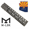 "10"" ULTRA LIGHTWEIGHT THIN M-LOK FREE FLOATING HANDGUARD WITH MONOLITHIC TOP RAIL"