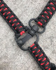 SINGLE POINT MS4 PARACORD SLING - BLACK AND RED