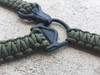 OD GREEN SINGLE POINT MS3 PARACORD SLING (CUSTOM) WITH MAGPUL PARACLIP