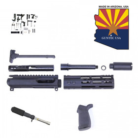 "GUNTEC AR-15 9MM CAL COMPLETE PISTOL KIT WITH 7"" MODLITE M-LOK HANDGUARD (NO LOWER)"