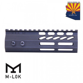 "6"" ULTRA SLIMLINE OCTAGONAL 5 SIDED MLOK FREE FLOATING HANDGUARD WITH MONOLITHIC TOP RAIL"