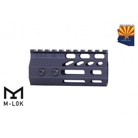 "4"" ULTRA SLIMLINE OCTAGONAL 5 SIDED MLOK FREE FLOATING HANDGUARD WITH MONOLITHIC TOP RAIL"