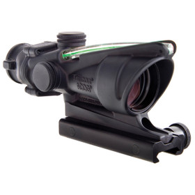TRIJICON ACOG 4x32 SCOPE, DUAL ILLUMINATED GREEN HORSESHOE / DOT 6.8 BALLISTIC RETICLE W/ TA51 MOUNT