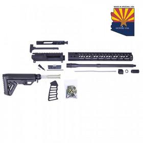 GUNTEC USA AR15 5.56 COMPLETE MLOK ULTRALIGHT RIFLE KIT (NO LOWER)