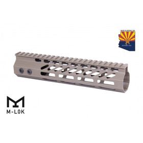 "9"" ULTRA SLIMLINE OCTAGONAL 5 SIDED MLOK FREE FLOATING HANDGUARD WITH MONOLITHIC TOP RAIL FDE"