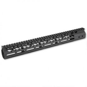 "15"" ULTRA LIGHTWEIGHT THIN M-LOK FREE FLOATING HANDGUARD WITH MONOLITHIC TOP RAIL"