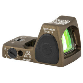 TRIJICON RMR ADJUSTABLE LED SIGHT - 3.25 MOA RED DOT - HARD ANODIZED COYOTE BROWN HRS